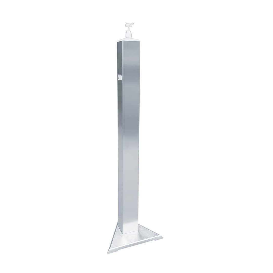Hygienesäule aus Edelstahl für 1 Liter Euroflaschen