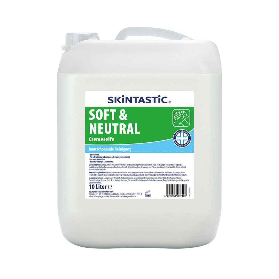 Cremeseife Skintastic Soft & Neutral - 10 l Kanister